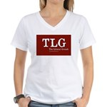 Liberal Grouch Logo Women's V-Neck T-Shirt