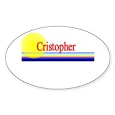 Cristopher Oval Decal