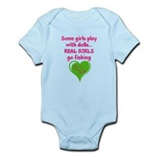 Real Girls Go Fishing Onesie