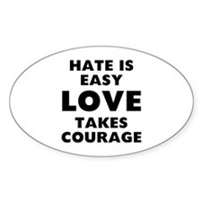 Hate Love Bumper Stickers
