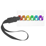 Happy Rainbow Cats Large Luggage Tag