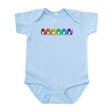 Happy Rainbow Cats Infant Bodysuit