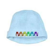 Happy Rainbow Cats baby hat