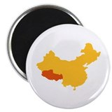 "Tibet China map 2.25"" Magnet (100 pack)"