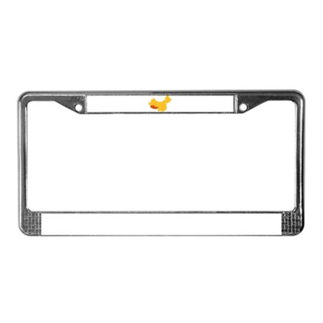 Tibet China map License Plate Frame