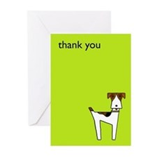 graphic terrier (green) Greeting Cards (Pk of 20)