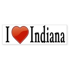 I Love Indiana Bumper Sticker