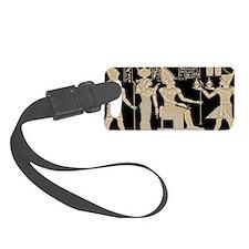 Egyptian Panel Dark Luggage Tag