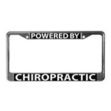 Powered By Chiropractic License Plate Frame