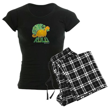 Herbivores Rule! Women's Dark Pajamas
