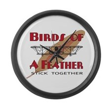 Flying Birds Large Wall Clock