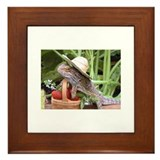 Gardener Spiny the Lizard Framed Tile