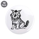 "Crazy Dog 3.5"" Button (10 pack)"