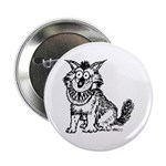 "Crazy Dog 2.25"" Button (100 pack)"