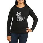 Crazy Dog Women's Long Sleeve Dark T-Shirt