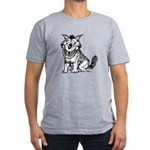 Crazy Dog Men's Fitted T-Shirt (dark)