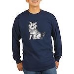 Crazy Dog Long Sleeve Dark T-Shirt