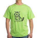 Crazy Dog Green T-Shirt