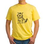 Crazy Dog Yellow T-Shirt