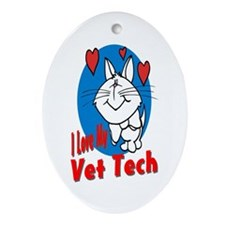 Vet Tech Oval Ornament