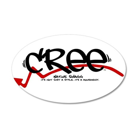 cree black.png 20x12 Oval Wall Decal
