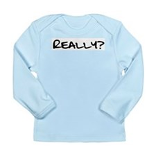 Really for black.png Long Sleeve Infant T-Shirt