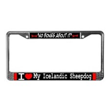 NB_Icelandic Sheepdog License Plate Frame
