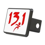 Red 13.1 half-marathon Rectangular Hitch Cover