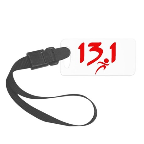 Red 13.1 half-marathon Small Luggage Tag