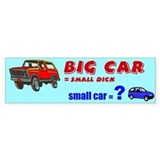 BIG CAR vs small car bumper sticker