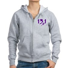 Purple 13.1 half-marathon Zip Hoodie