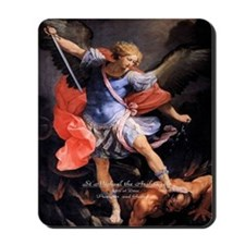 Saint Michael the Archangel Quis ut Deus Mousepad