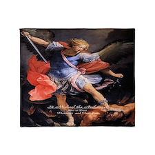Saint Michael the Archangel Quis ut Deus Throw Bla
