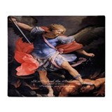 St Michael Archangel Quis ut Deus Throw Blanket