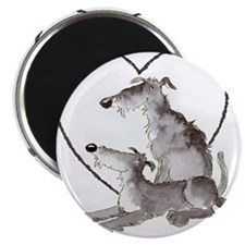 "Scottish Deerhounds in Heart 2.25"" Magnet (100 pac"