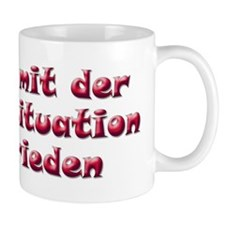 Unzufrieden, red (german) Small Mug