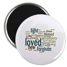 "Who I am in Christ Teal 2.25"" Magnet (10 pack)"