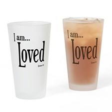 I am Loved Romans 5:8 Drinking Glass