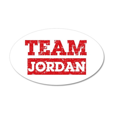 Team Jordan 35x21 Oval Wall Decal