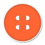 Orange Button Round Car Magnet
