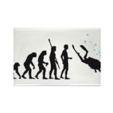 evolution diving Rectangle Magnet