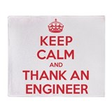 K C Thank Engineer Throw Blanket