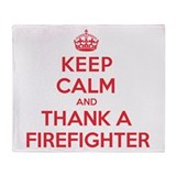 K C Thank Firefighter Throw Blanket