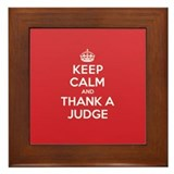 K C Thank Judge Framed Tile