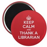"K C Thank Librarian 2.25"" Magnet (10 pack)"