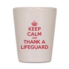 K C Thank Lifeguard Shot Glass