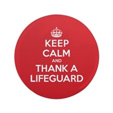 "K C Thank Lifeguard 3.5"" Button"