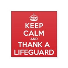 "K C Thank Lifeguard Square Sticker 3"" x 3"""