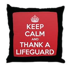 K C Thank Lifeguard Throw Pillow