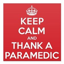 "K C Thank Paramedic Square Car Magnet 3"" x 3"""